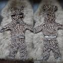 Jogginpak luipaardprint bedrukt met naam
