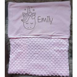 Baby deken bedrukt unicorn en naam